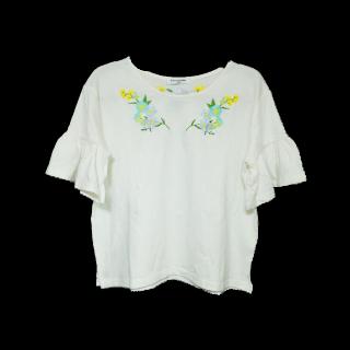 このコーデで使われているTシャツ/カットソー[ホワイト/グリーン/ブルー/パープル/イエロー]