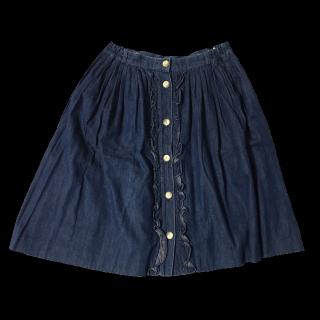 このコーデで使われているひざ丈スカート[ネイビー]