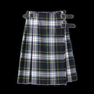 このコーデで使われているO'NEIL of DUBLINのひざ丈スカート[ホワイト/グリーン/ネイビー/イエロー]