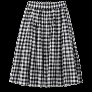 このコーデで使われているGUのひざ丈スカート[ホワイト/ブラック]