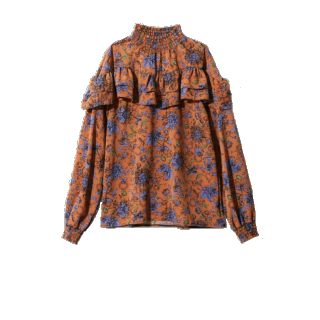このコーデで使われているGRLのシャツ/ブラウス[ブラウン/オレンジ]