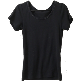 このコーデで使われているITS'DEMOのTシャツ/カットソー[ブラック]