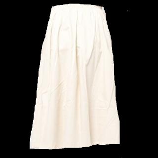 このコーデで使われているミモレ丈スカート[ホワイト]