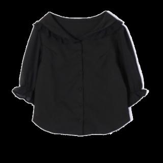 このコーデで使われているevelynのシャツ/ブラウス[ブラック]