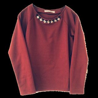 このコーデで使われているTシャツ/カットソー[オレンジ]