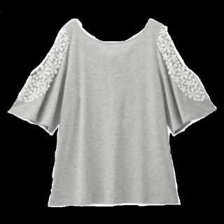 このコーデで使われているGUのTシャツ/カットソー[グレー]