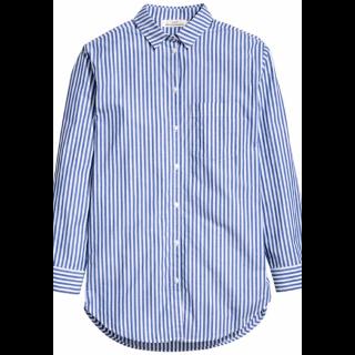 このコーデで使われているH&Mのシャツ/ブラウス[ホワイト/ブルー]