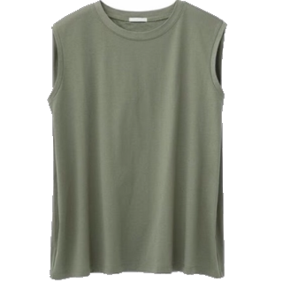 このコーデで使われているGUのTシャツ/カットソー[カーキ]