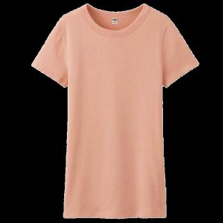 このコーデで使われているUNIQLOのTシャツ/カットソー[ピンク]