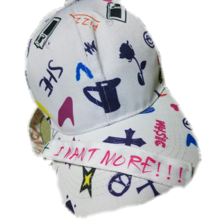 このコーデで使われている帽子[ホワイト]