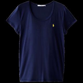 このコーデで使われているRALPH LAURENのTシャツ/カットソー[ネイビー/イエロー]