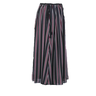 このコーデで使われているnano・universeのマキシ丈スカート[ネイビー]