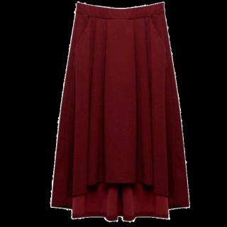 このコーデで使われているRe:EDITのマキシ丈スカート[ボルドー]
