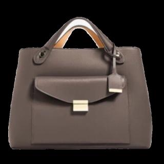 このコーデで使われているZARAのハンドバッグ[ブラウン/キャメル/ボルドー]