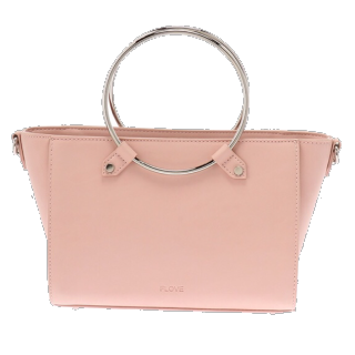 このコーデで使われているFLOVEのハンドバッグ[ピンク]