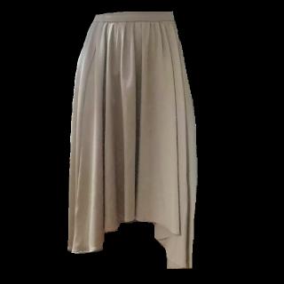 このコーデで使われているINGNIのマキシ丈スカート[ベージュ/キャメル]