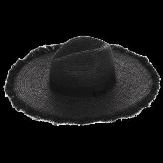 このコーデで使われているEVRISの麦わら帽子[ブラック]