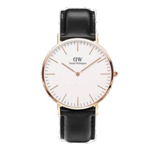 このコーデで使われているDWの腕時計[ブラック/ゴールド]