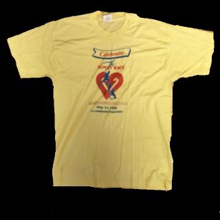 このコーデで使われているTシャツ/カットソー[イエロー/ブルー/レッド]