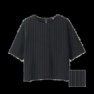 このコーデで使われているUNIQLOのシャツ/ブラウス[ブラック/ホワイト]