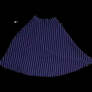 このコーデで使われているGLOBAL WORKのミモレ丈スカート[ネイビー]