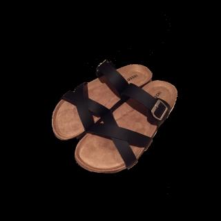 このコーデで使われているしまむらのサンダル[ブラック]