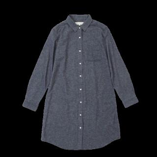 このコーデで使われているシャツ/ブラウス[グレー/ネイビー]