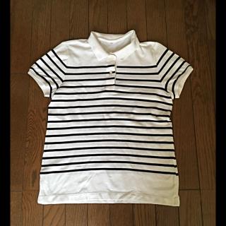 このコーデで使われているMUJIのポロシャツ[ホワイト/ネイビー]
