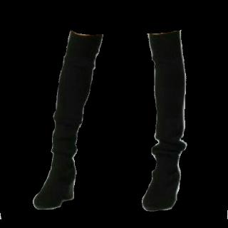 このコーデで使われているJEANASISのブーツ[ブラック]