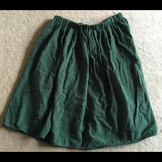 このコーデで使われているひざ丈スカート[グリーン]