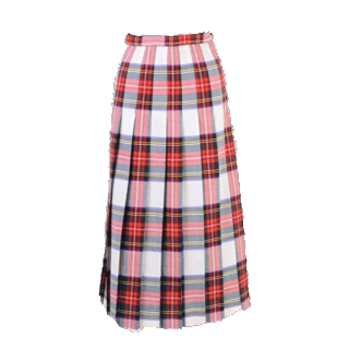 このコーデで使われているVINTAGEのプリーツスカート[レッド]