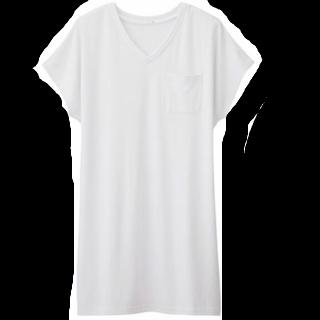 このコーデで使われているGUのシャツワンピ[ホワイト]