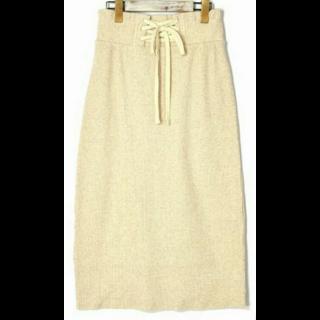 このコーデで使われているw closetのマキシ丈スカート[ベージュ]