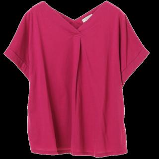 このコーデで使われているearth music&ecologyのTシャツ/カットソー[ピンク]