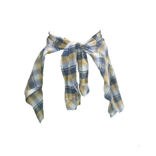 このコーデで使われているcoenのシャツ/ブラウス[ブルー/オレンジ]