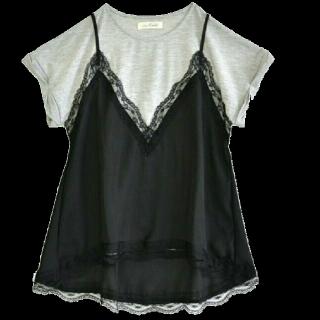 このコーデで使われているe-zakkamania storesのTシャツ/カットソー[ブラック/グレー]