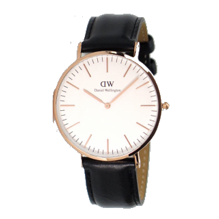 このコーデで使われているDaniel Wellingtonの腕時計[ブラック/ホワイト]