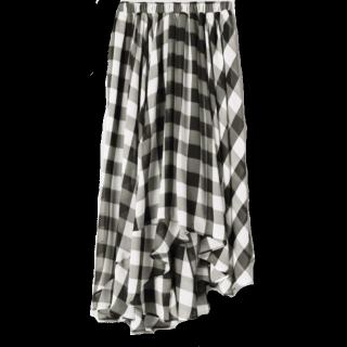 このコーデで使われているJEANASISのミモレ丈スカート[ブラック]