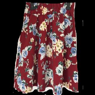 このコーデで使われているひざ丈スカート[レッド]