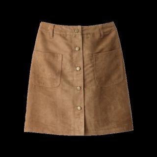 このコーデで使われているGRLのひざ丈スカート[キャメル]