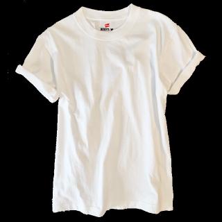 このコーデで使われているHanesのTシャツ/カットソー[ホワイト]