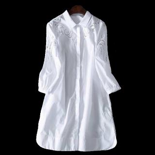 このコーデで使われているシャツワンピ[ホワイト]