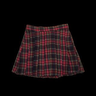 このコーデで使われているプリーツスカート[レッド/ブラック]
