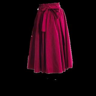 merlotのミモレ丈スカート