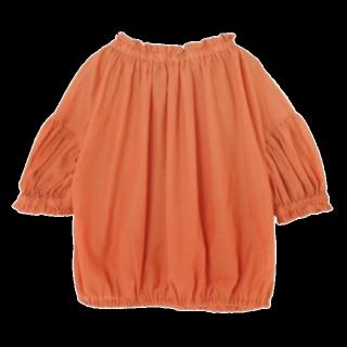 このコーデで使われているursのシャツ/ブラウス[オレンジ]