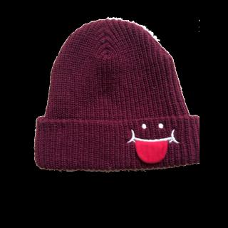 このコーデで使われているUP SMILEのニット帽[ボルドー]