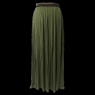 このコーデで使われているPEACH JOHNのマキシ丈スカート[カーキ]