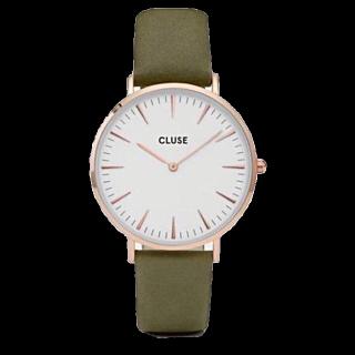 このコーデで使われているCLUSEの腕時計[カーキ/ホワイト/ゴールド]