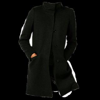このコーデで使われているUNIQLOのコート[ブラック]