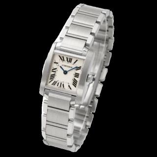 このコーデで使われているCartierの腕時計[シルバー]